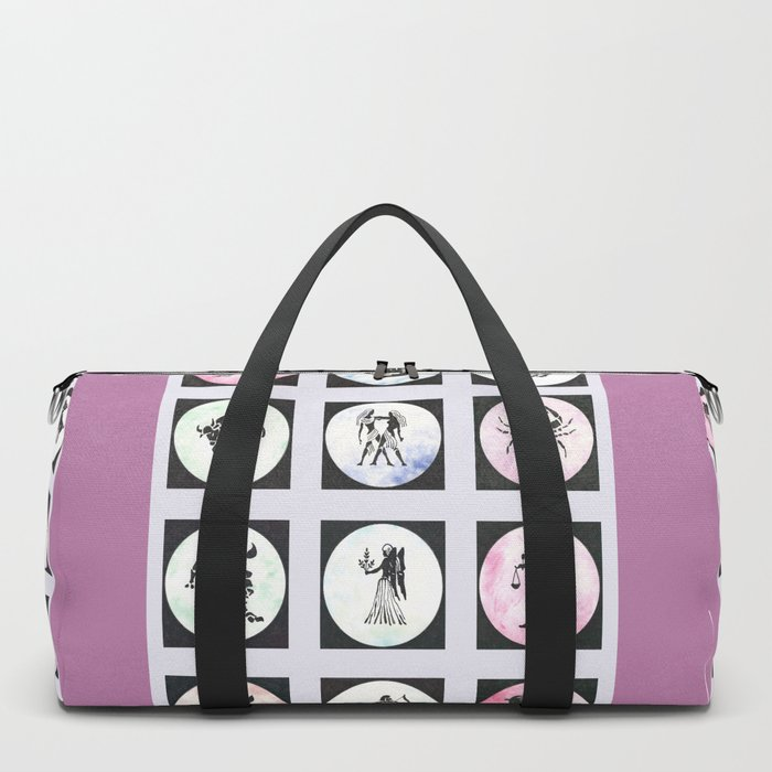 Twelve Zodiac Signs Duffle Bag