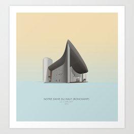 Ronchamp Chapel Le Corbusier Art Print