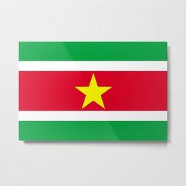 Flag of Suriname Metal Print