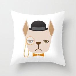 Dapper French Bulldog Throw Pillow
