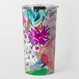 High by the Beach Painterly Floral Travel Mug