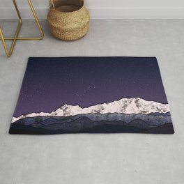 Starry night and constellations Rug