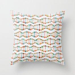 Watercolor DNA Strands Throw Pillow