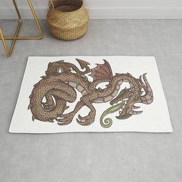Danube river dragon Rug