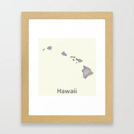 Hawaii map Framed Art Print