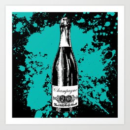 Champagne Explosion Art Print