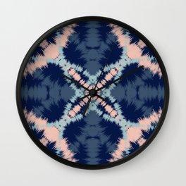 Blue & Blush Tie Dye Wall Clock