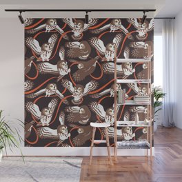 Owls with Ribbon Wall Mural