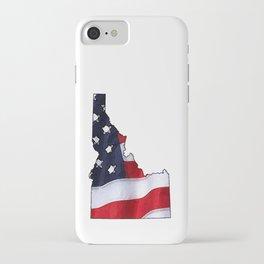 Patriotic Idaho iPhone Case