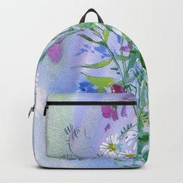 Meadow flowers - watercolor painting Backpack