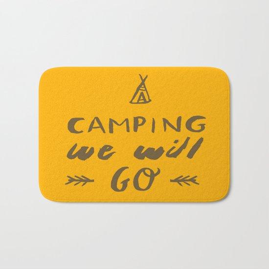 Camping we will go Bath Mat