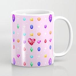 Pixel Gem Pattern Coffee Mug