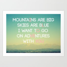 Adventures and I Love You (MODERN) Art Print