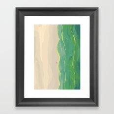 Beach Walk Framed Art Print