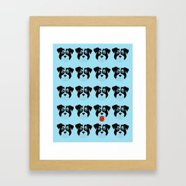 Dogs Blue Framed Art Print