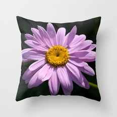 Pink Daisy Bloom Throw Pillow