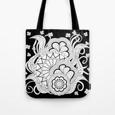 black&white zen composition 2 Tote Bag