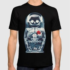 Nesting Doll X-Ray MEDIUM Black Mens Fitted Tee