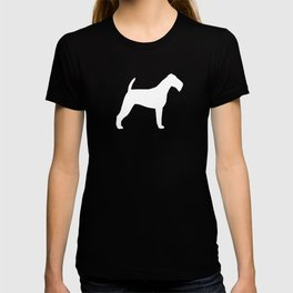 White Irish Terrier Silhouette T-shirt