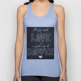Love and coffee Unisex Tank Top