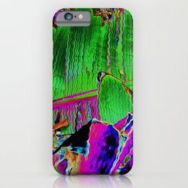 Banana leaf swirl iPhone Case
