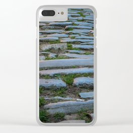 Cobblestones And Grass Clear iPhone Case