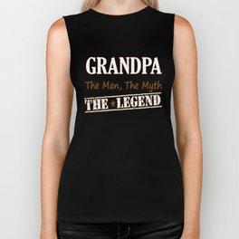 Grandpa The Legend Biker Tank