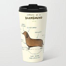 Anatomy of a Dachshund Travel Mug