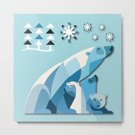 Polar Bear No. 2 Metal Print