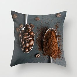 Coffee Spoons Throw Pillow