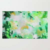 monet Area & Throw Rugs featuring Monet by acrylikate