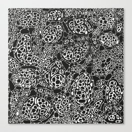 Microscopic cells - black and white Canvas Print