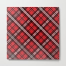 Scottish Plaid-Red Metal Print