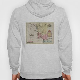 Vintage Map of New England (1665) Hoody