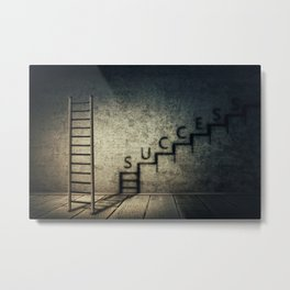 success stairway Metal Print