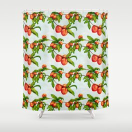 Under The Peach Tree Shower Curtain