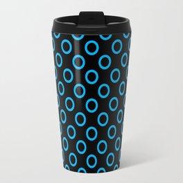 Blue Rings with Black Background Travel Mug