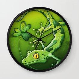Saint Patrick's Day Gecko Wall Clock