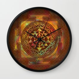 Colorful Sri Yantra  / Sri Chakra Wall Clock
