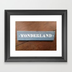 Welcome to... Framed Art Print