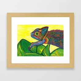 Colorful Chameleon  Framed Art Print