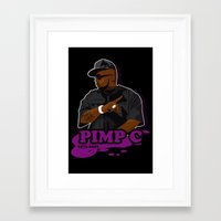 chad wys Framed Art Prints featuring Chad 'Pimp C' Butler by Chad Trutt