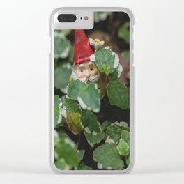 Peek-a-boo Gnome Clear iPhone Case
