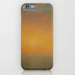 Sunset on the Sea by John Frederick Kensett iPhone Case