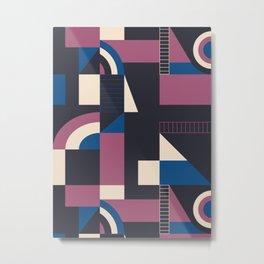 Darkish Blocks #society6 #pattern Metal Print