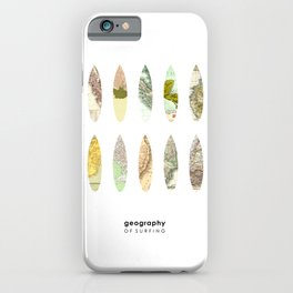 Geography of surfing iPhone Case