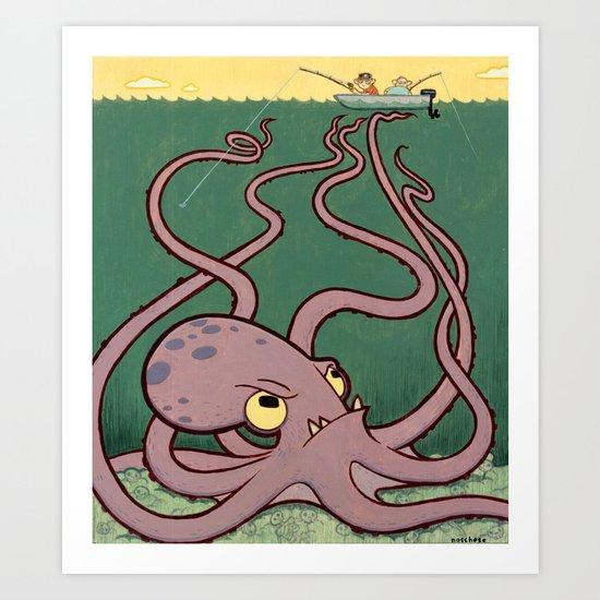 Evil Octopus Art Print