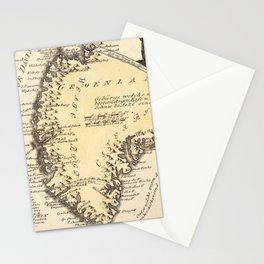 Vintage Map of Greenland (1791) Stationery Cards