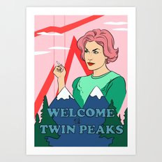 Welcome to Twin Peaks - Audrey Horne illustration print Art Print