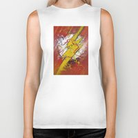 the flash Biker Tanks featuring Flash by Big Tortoise Art (Art by JasonKoelliker)
